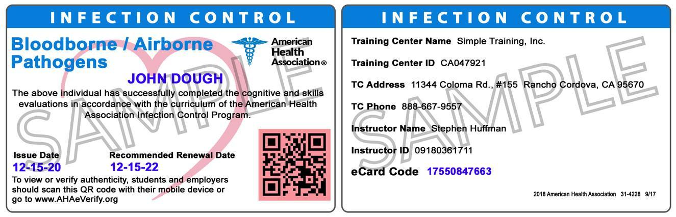 Bloodborne Pathogens Infection Control Simplecpr