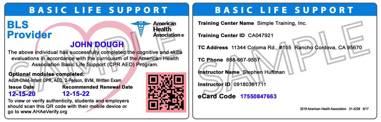 Healthcare Provider Bls Professional Cpr Simplecpr